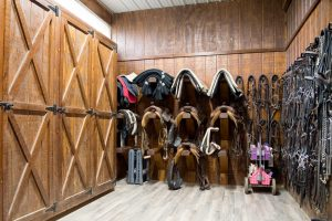 Tack Room with storage lockers